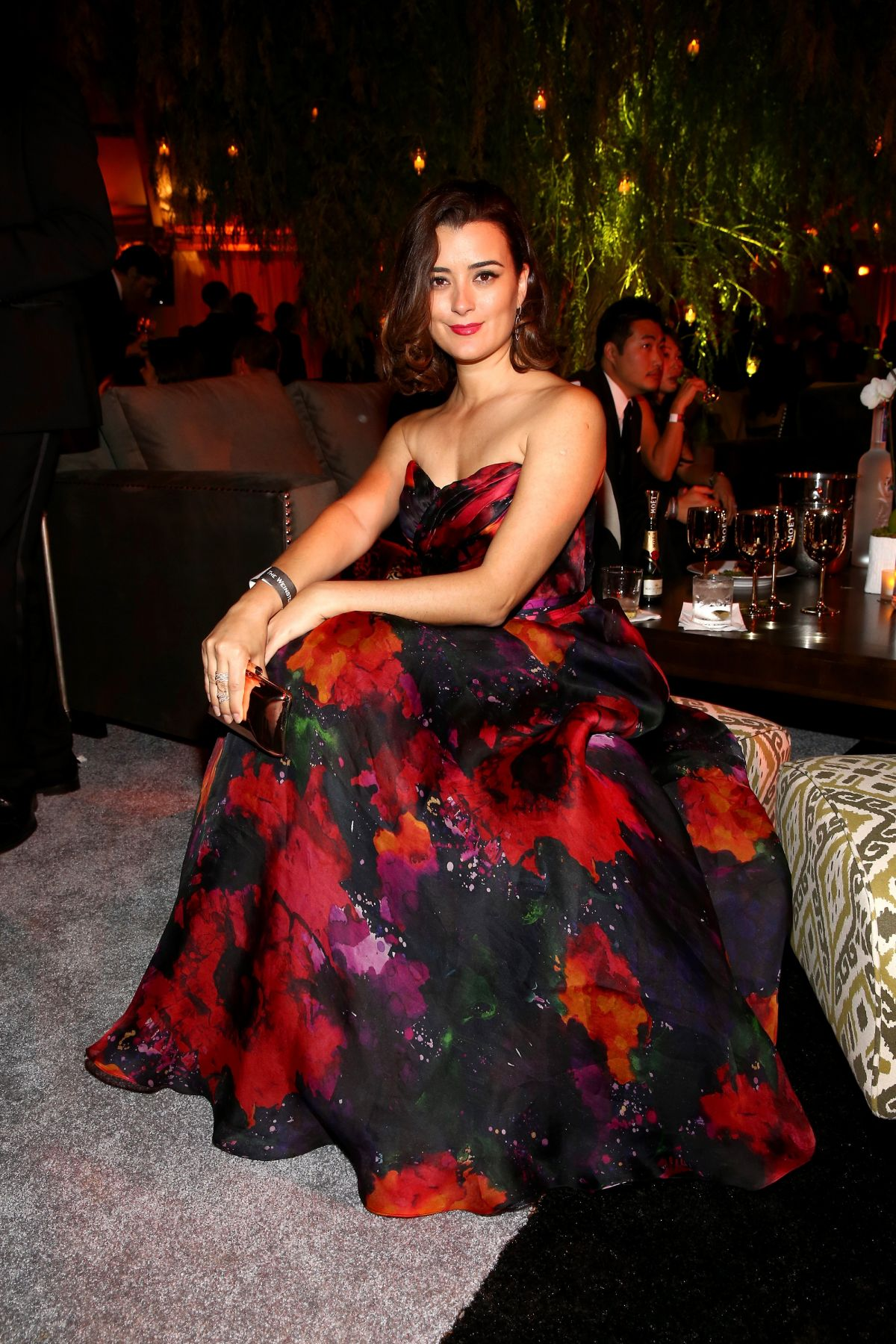 COTE DE PABLO at The Weinstein Company and Netflix Golden Globes Party in Los Angeles
