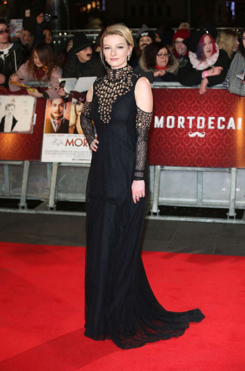 DAKOTA BLUE RICHARDS at Mortdecai Premiere in London