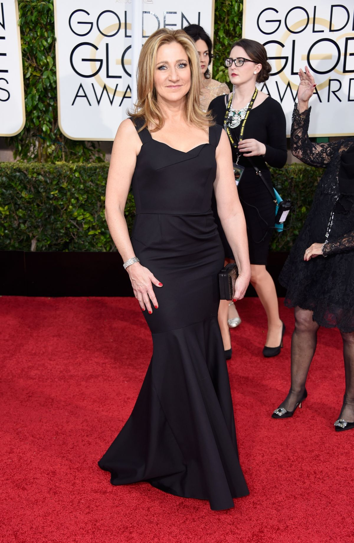 EDIE FALCO at 2015 Golden Globe Awards in Beverly Hills