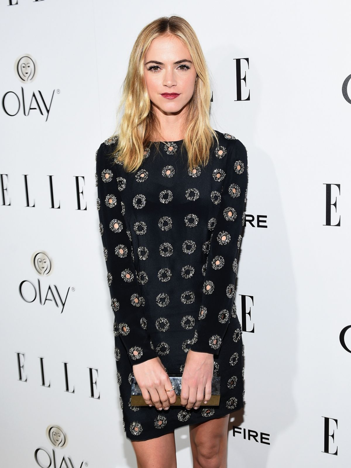 EMILY WICKERSHAM at 2015 Elle Women in Television Celebration in West Hollywood