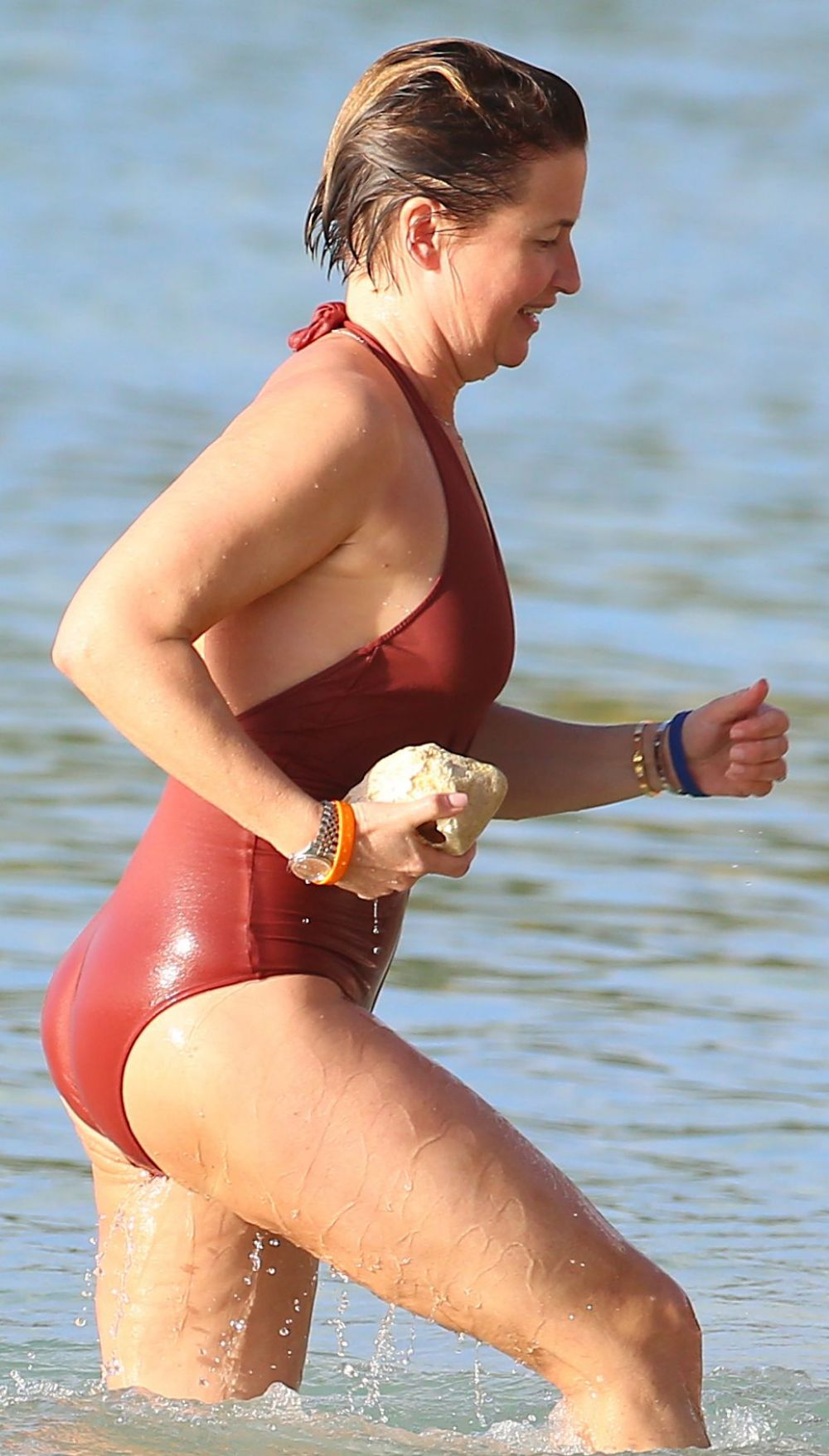EMMA FORBES in Swimsuit at a Beach in Bbarbados 0101