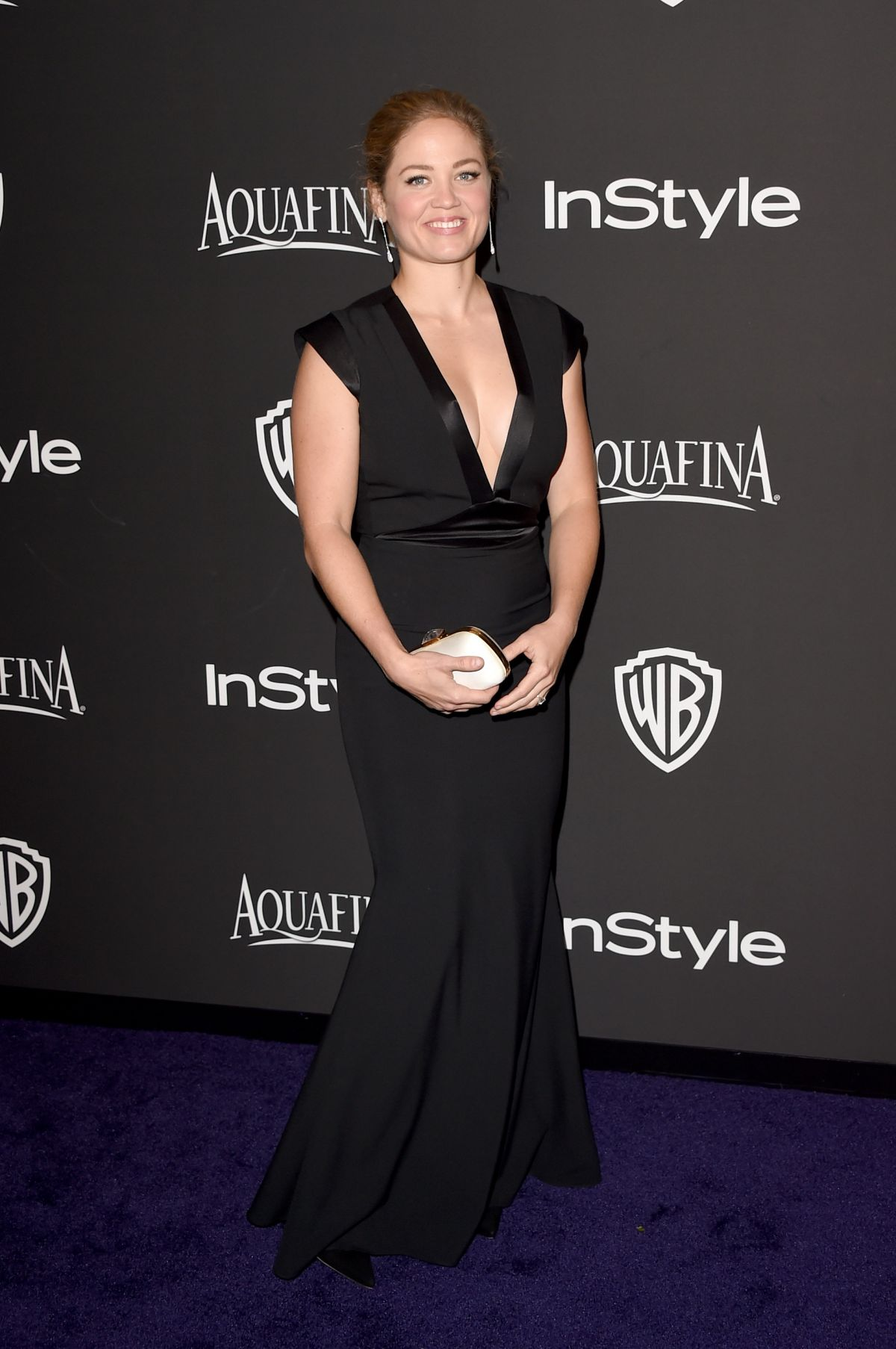 ERIKA CHRISTENSEN at Instyle and Warner Bros Golden Globes Party in Beverly Hills