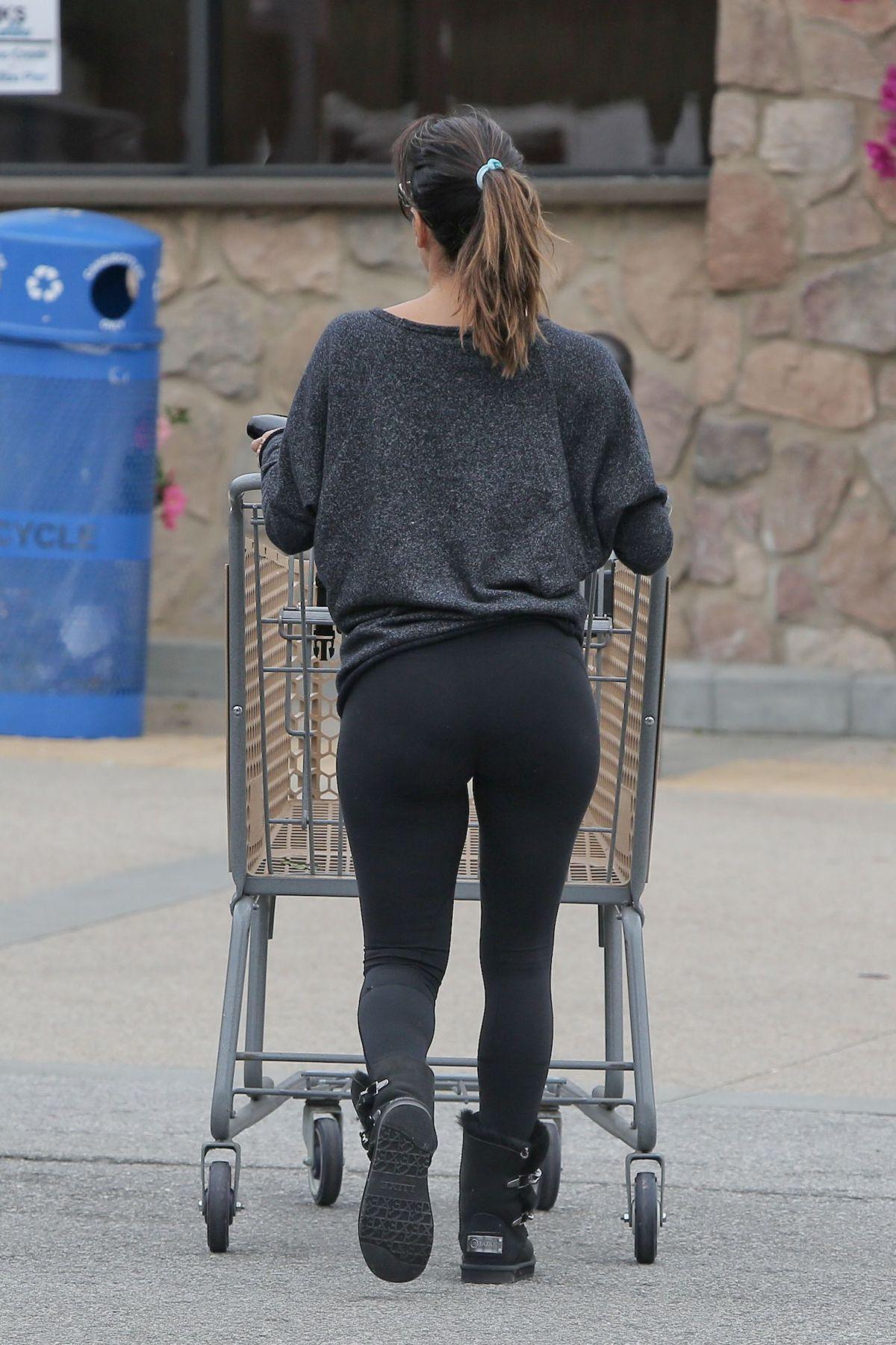 Eva Longoria In Tights Out Shopping In Malibu