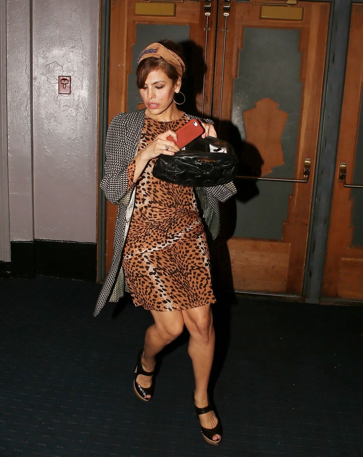 EVA MENDES Leaves Saba...