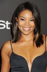 GABRIELLE UNION at Iinstyle and Warner Bros Golden Globes Party in Beverly Hills