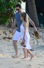 GEORGIE THOMPSON on Honeymoon on the Beach in Caribbean