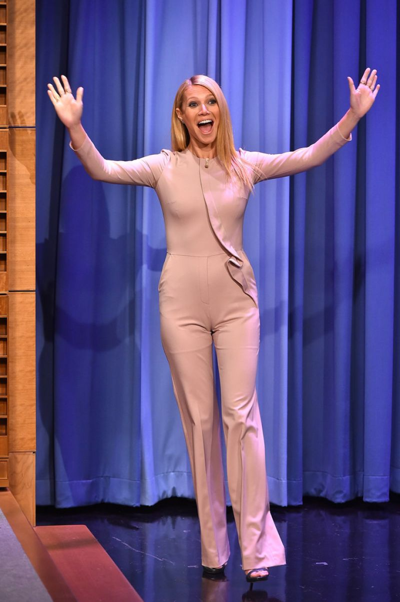 GWYNETH PALTROW at The Tonight Show with Jimmy Fallon in New York