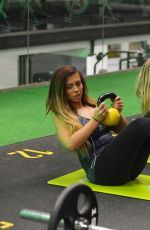HOLLY HAGAN Working Out at a Gym in London