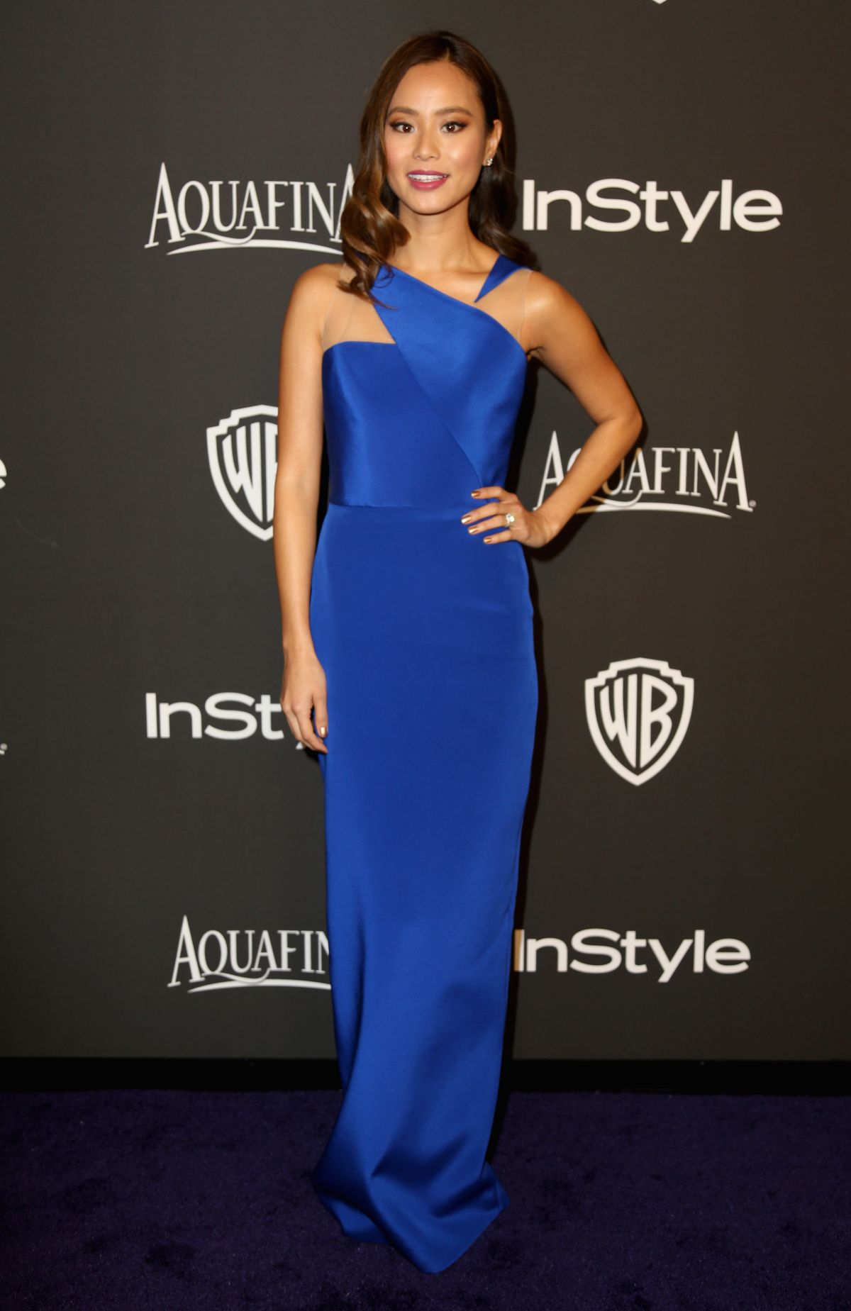 JAMIE CHUNG at Instyle and Warner Bros Golden Globes Party in Beverly Hills