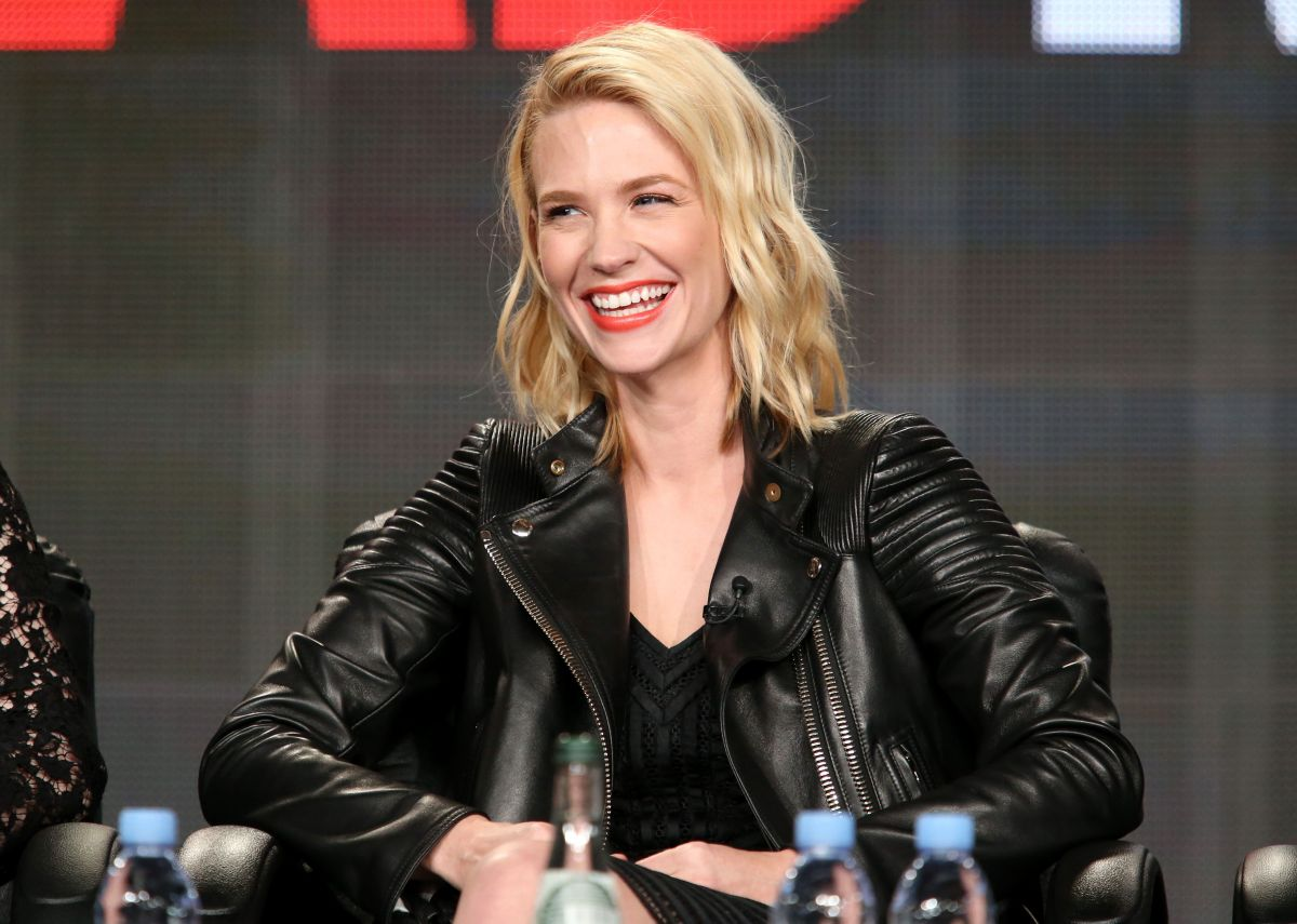 JANUARY JONES at Mad Men Panel TCA Press Tour in Pasadena