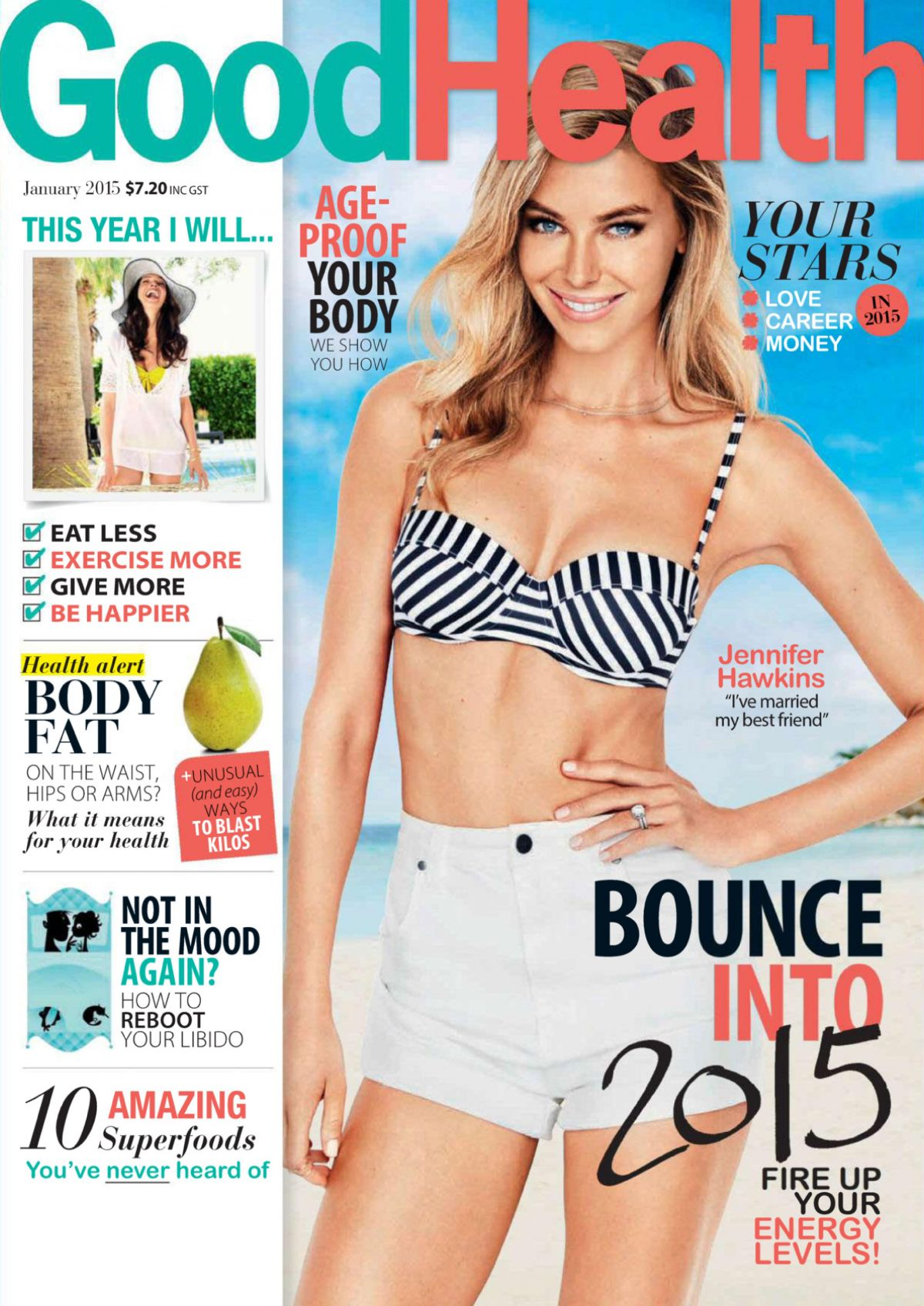 JENNIFER HAWKINS in Good Health Magazine, Australia January 2015 Issue