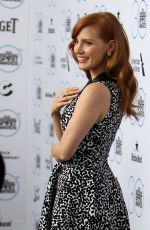 JESSICA CHASTAIN at Iindependent Filmmaker Grant and Spirit Awards Nominee Brunch in West Hollywood