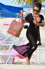 JODIE MARSH at a Beach in Narbados 0601