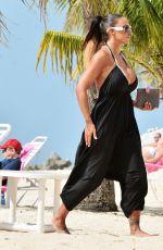 JODIE MARSH in Bikini at a Beach in Barbados 1001
