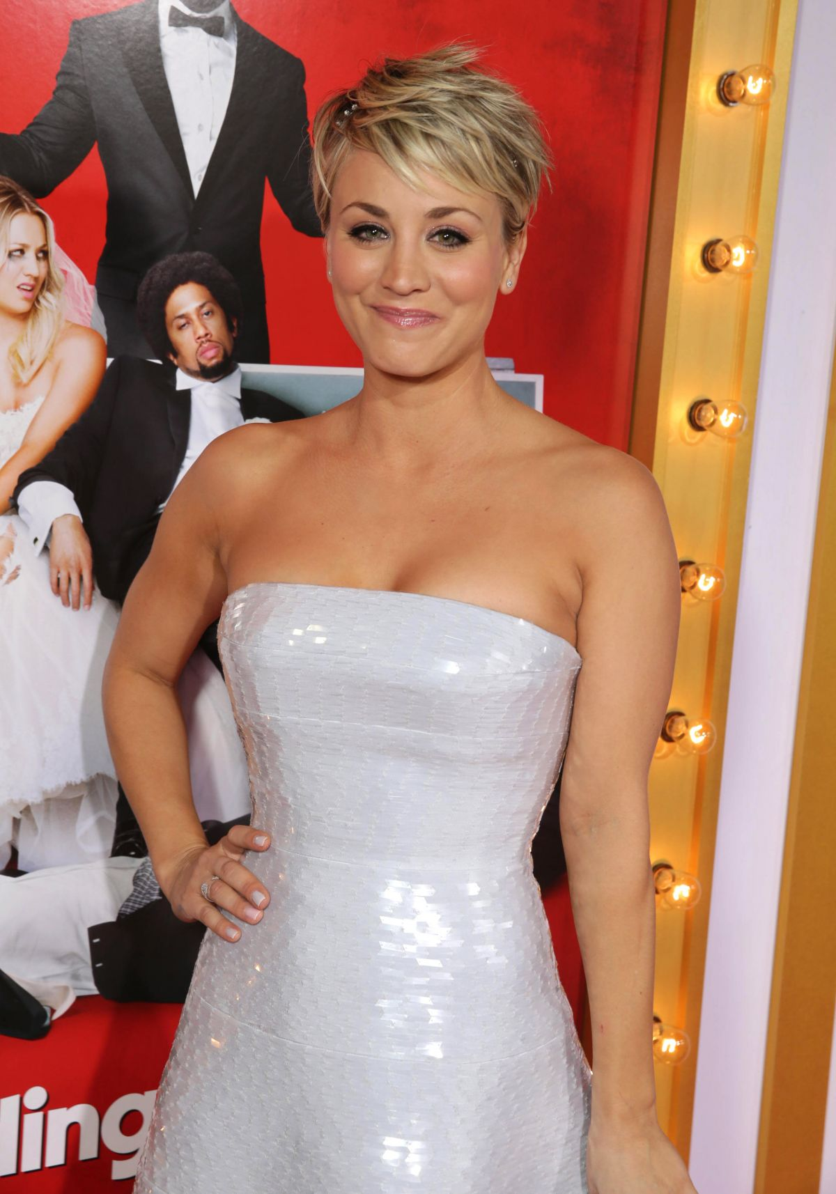Kaley Cuoco At The Wedding Ringer Premiere In Los Angeles