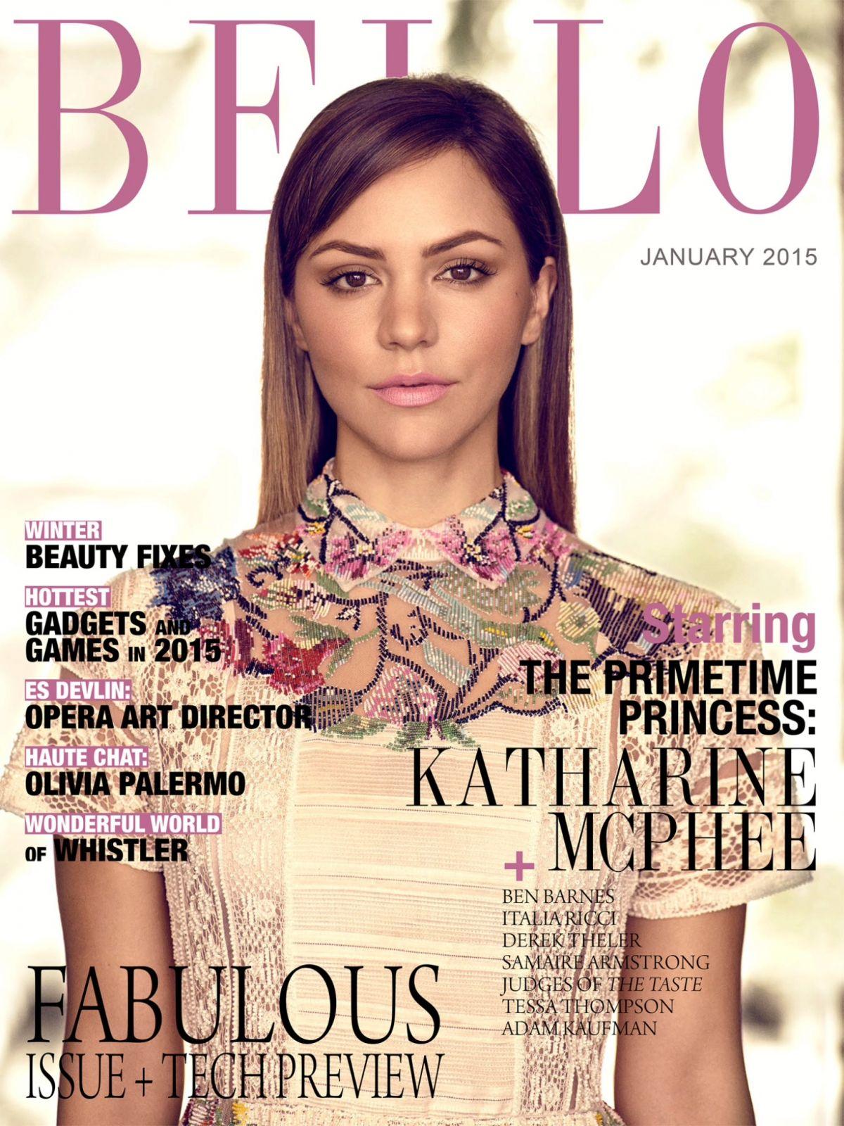 KATHARINE MCPHEE in Bello Magazine, Janauary 2015 Issue