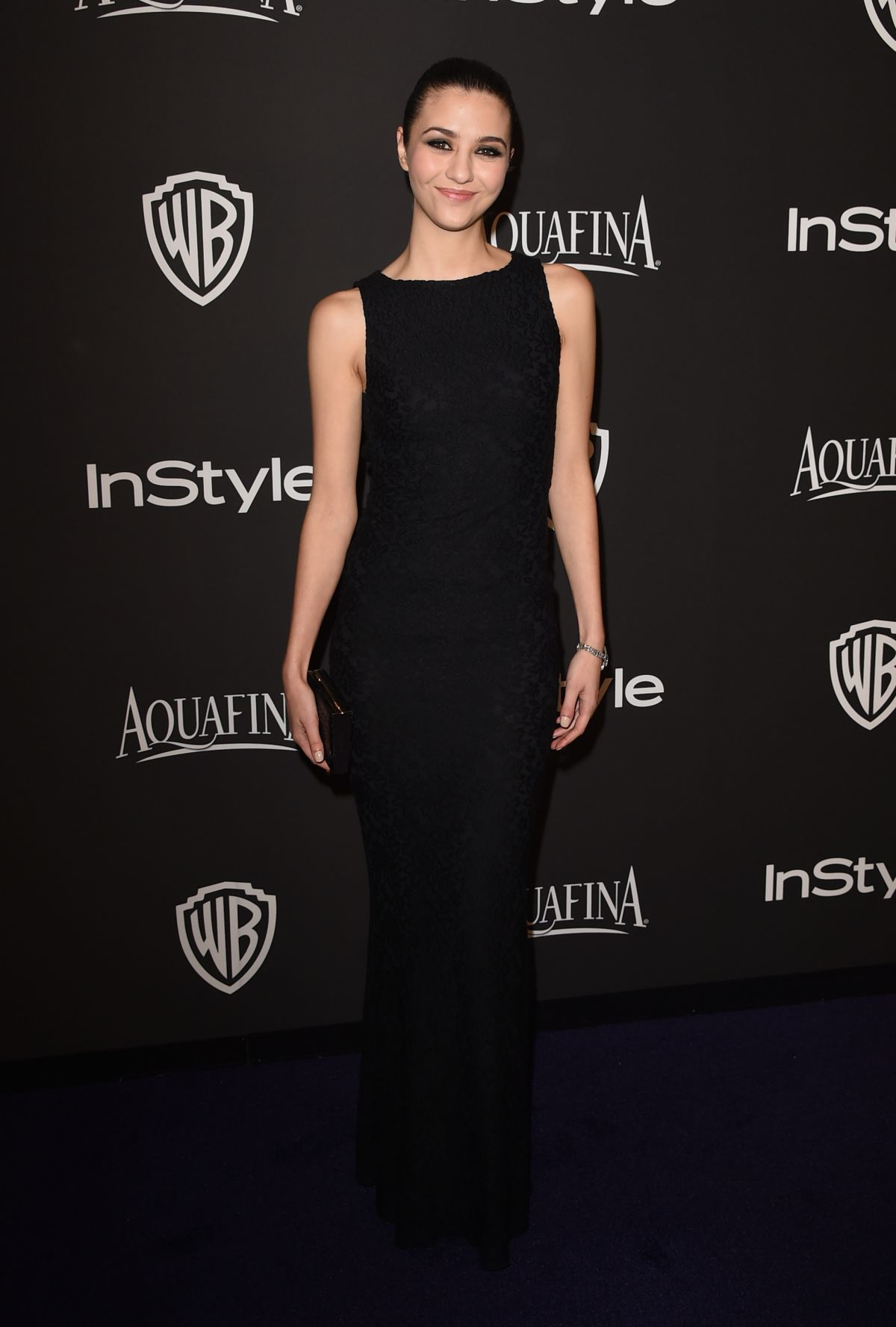 KATIE FINDLAY at Instyle and Warner Bros Golden Globes Party in Beverly Hills
