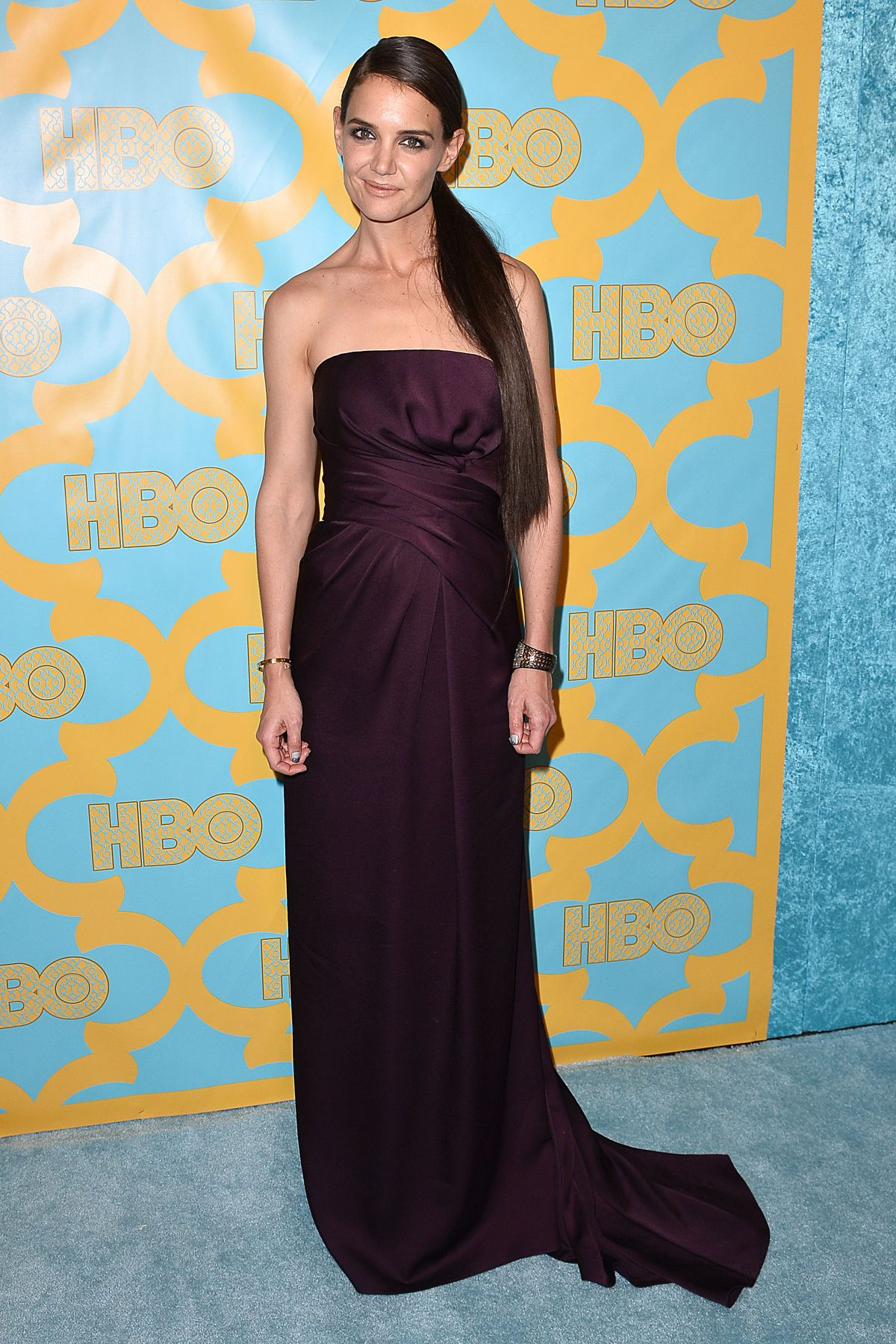 KATIE HOLMES at HBO Golden Globes Party in Los Angeles