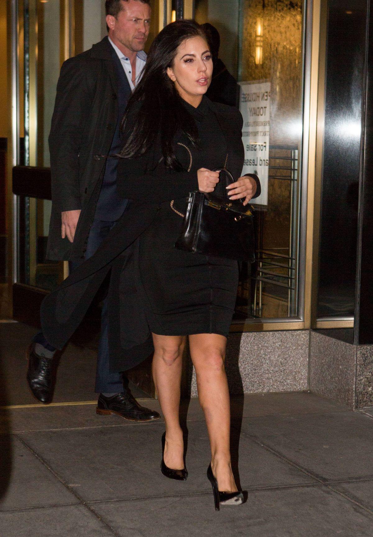 LADY GAGA Leaves Her Hotel in New York 2501