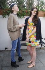 LANA DEL REY and Her Sister CAROLINE GRANT Out for Lunch at Il Pastaio