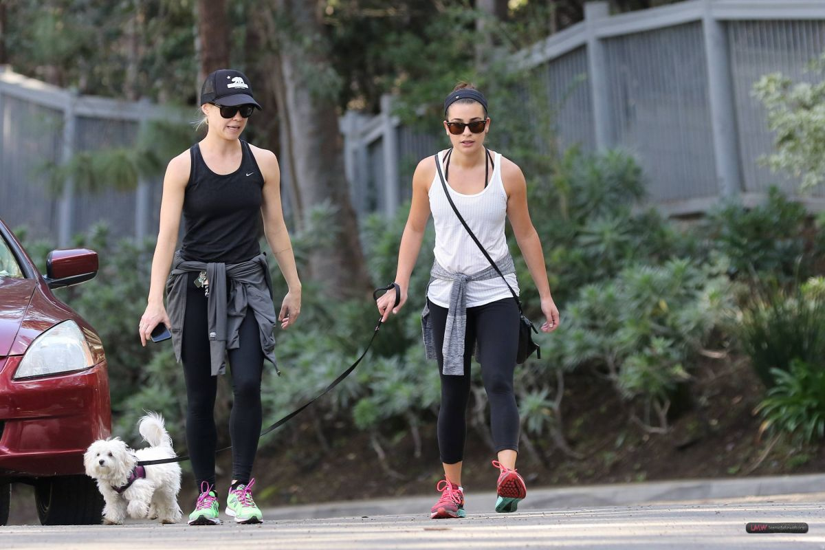 LEA MICHELE and BECCA TOBIN Out Hiking in Los Angeles