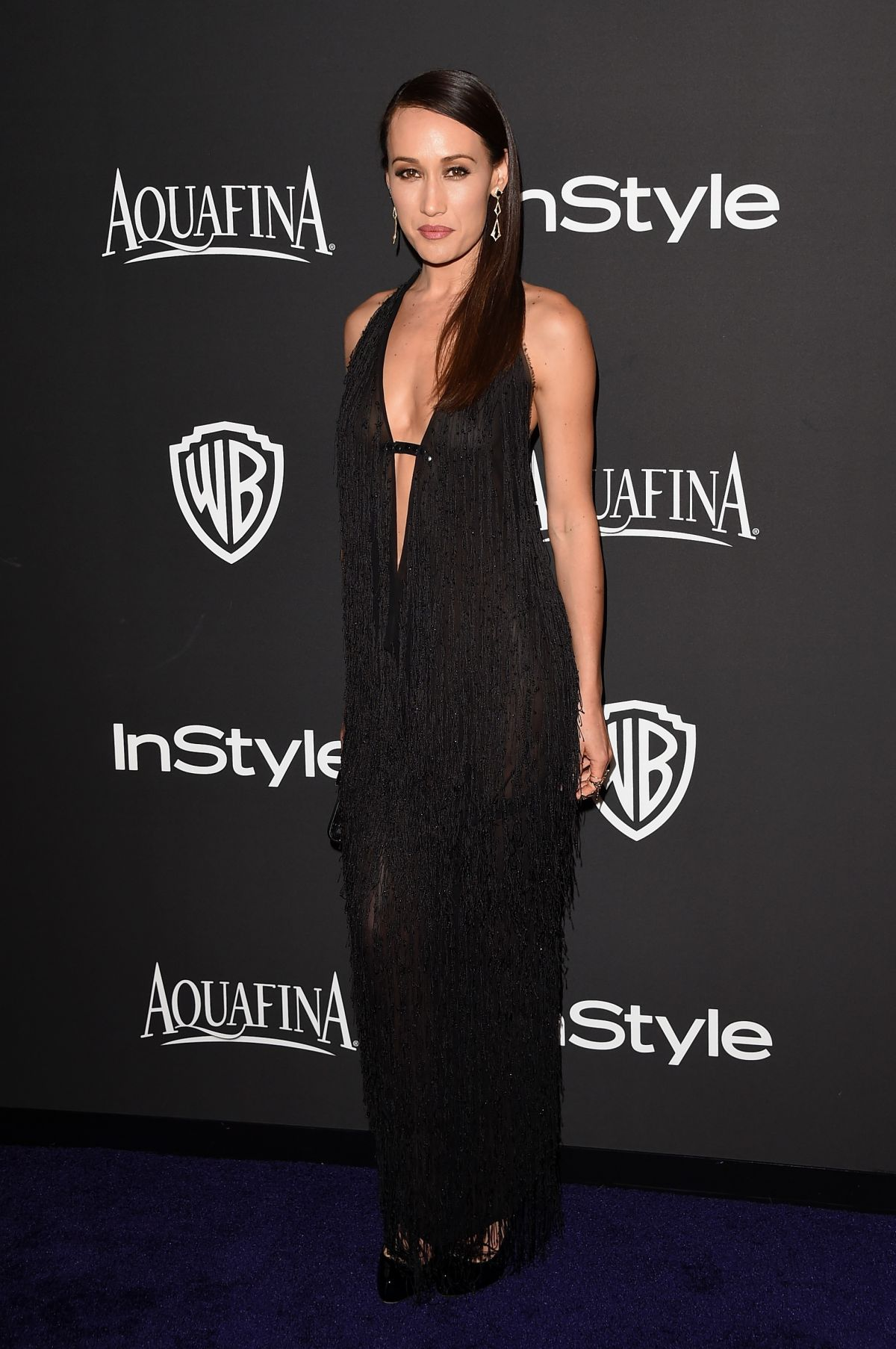 MAGGIE Q in Instyle and Warner Bros Golden Globes Party in Beverly Hills