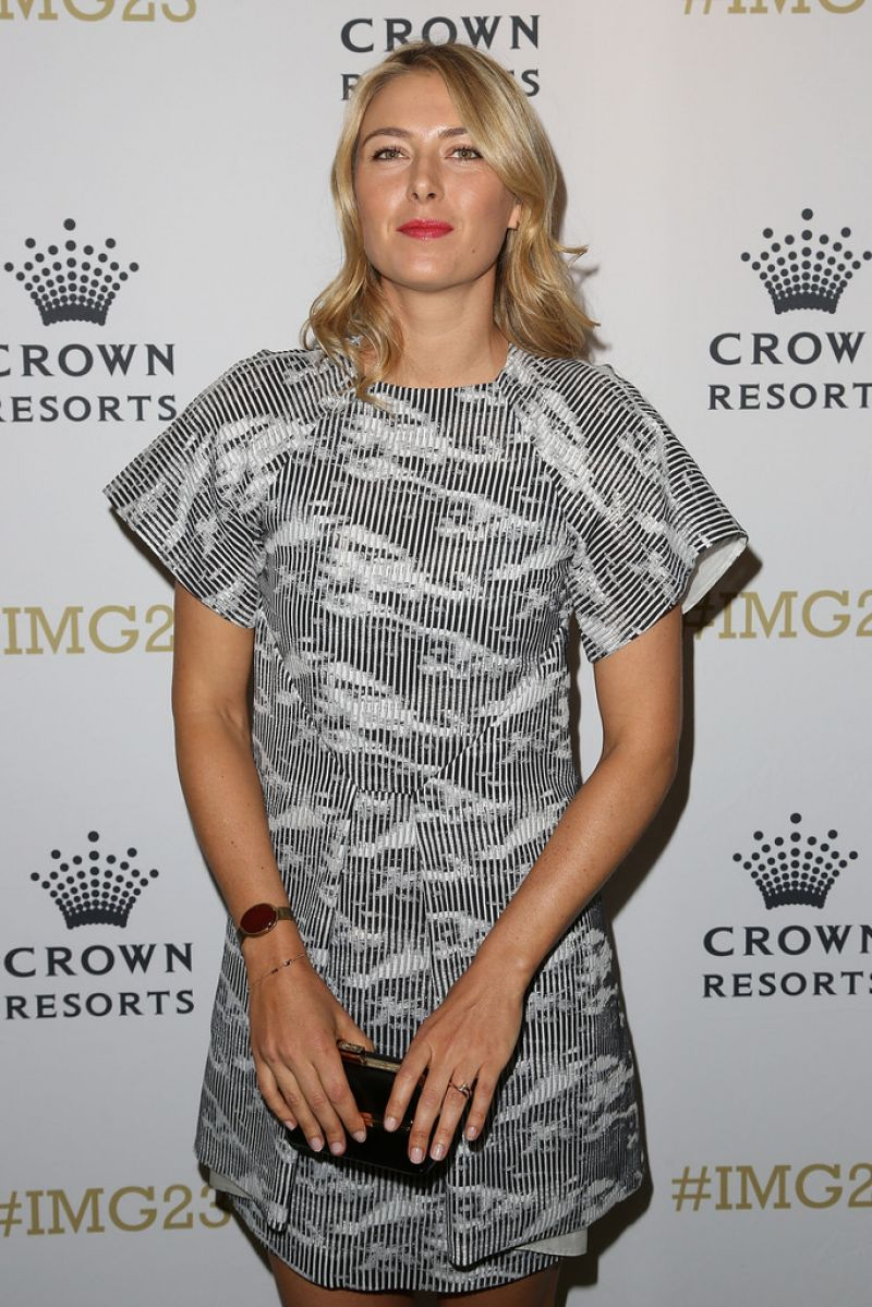 maria sharapova at crown�s img23 tennis players party in