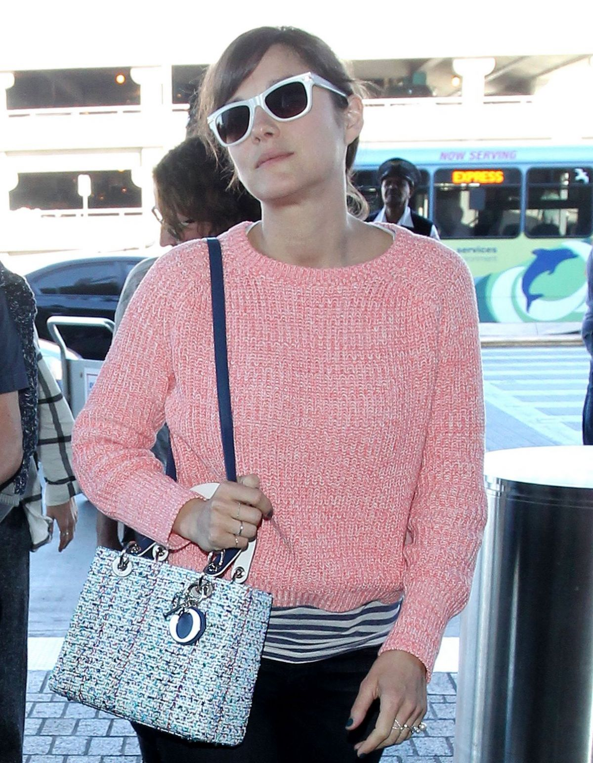 MARION COTILLAR at LAX Airport in Los Angeles 1601