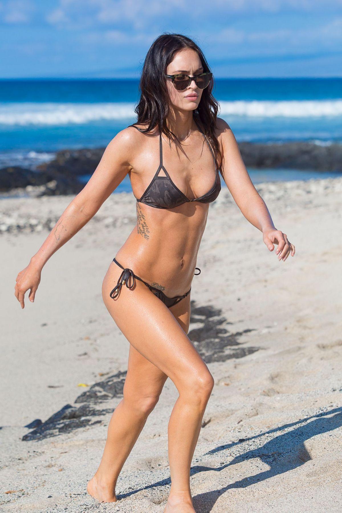 MEGAN FOX in Bikini on the Beach in Hawaii - HawtCelebs