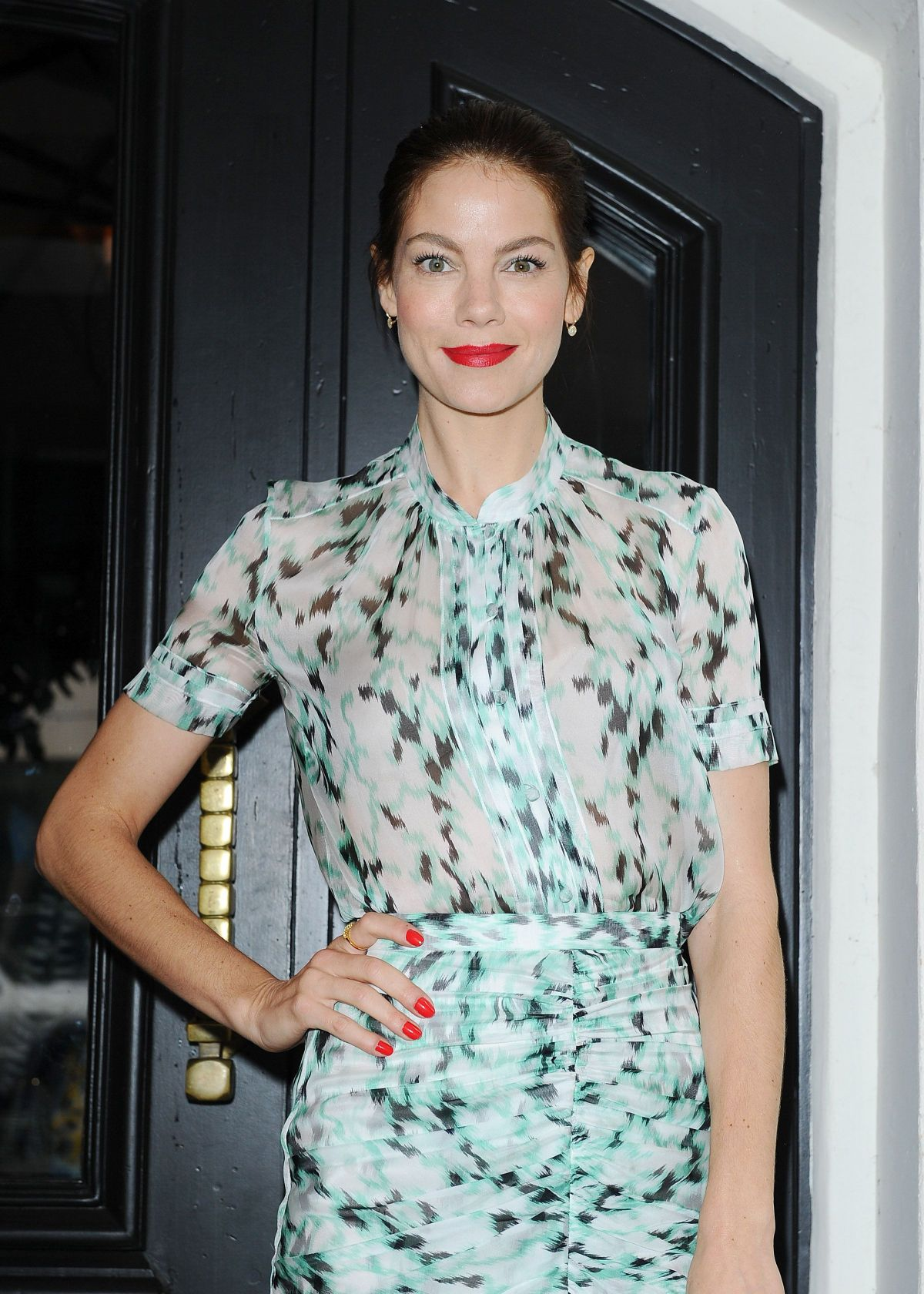 MICHELLE MONAGHAN at W Magazine Luncheon in Los Angeles