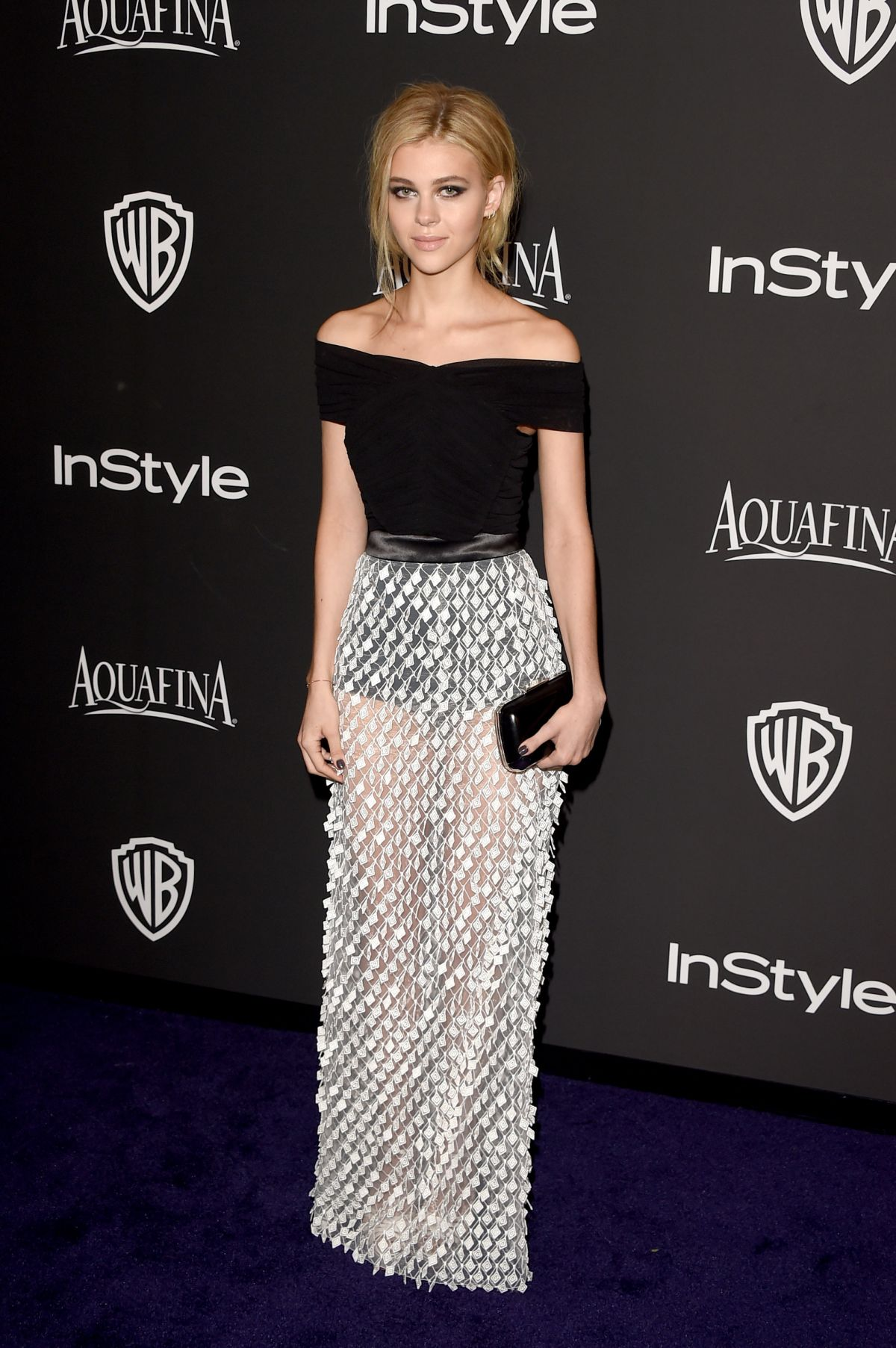 NICOLA PELTZ at Instyle and Warner Bros Golden Globes Party in Beverly Hills