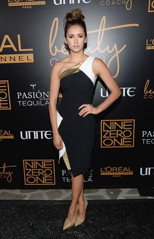 NINA DOBREV at Nine Zero One Salon Melrose Place Launch Party in Los Angeles