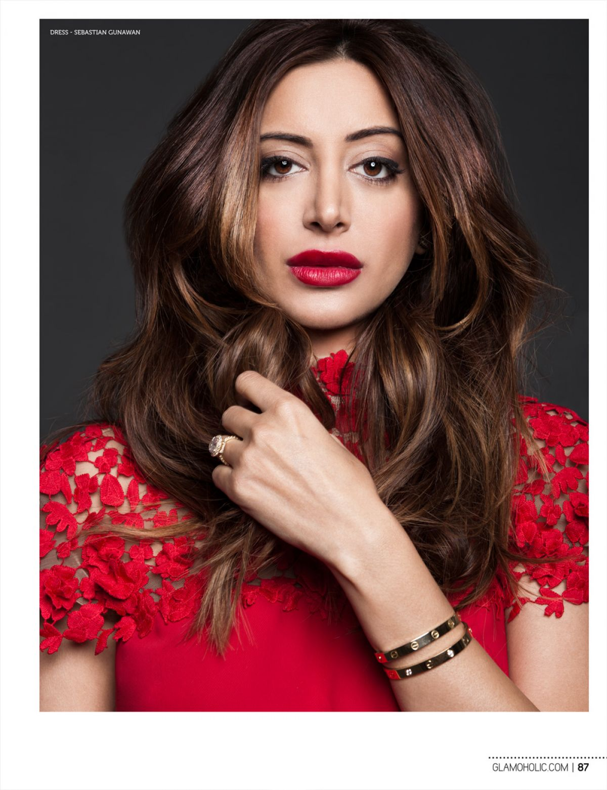 Noureen Dewulf In Glamoholic Magazine January 2015 Issue