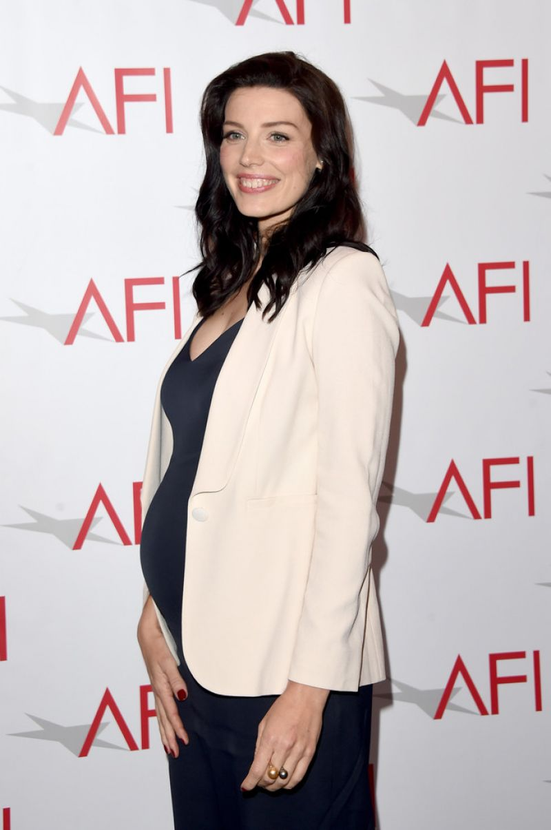 Pregnant JESSICA PARE at 2015 AFI Awards in Los Angeles