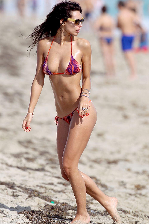 RAFFAELLA MODUGNO in Bikini at a Beach in Miami 0301