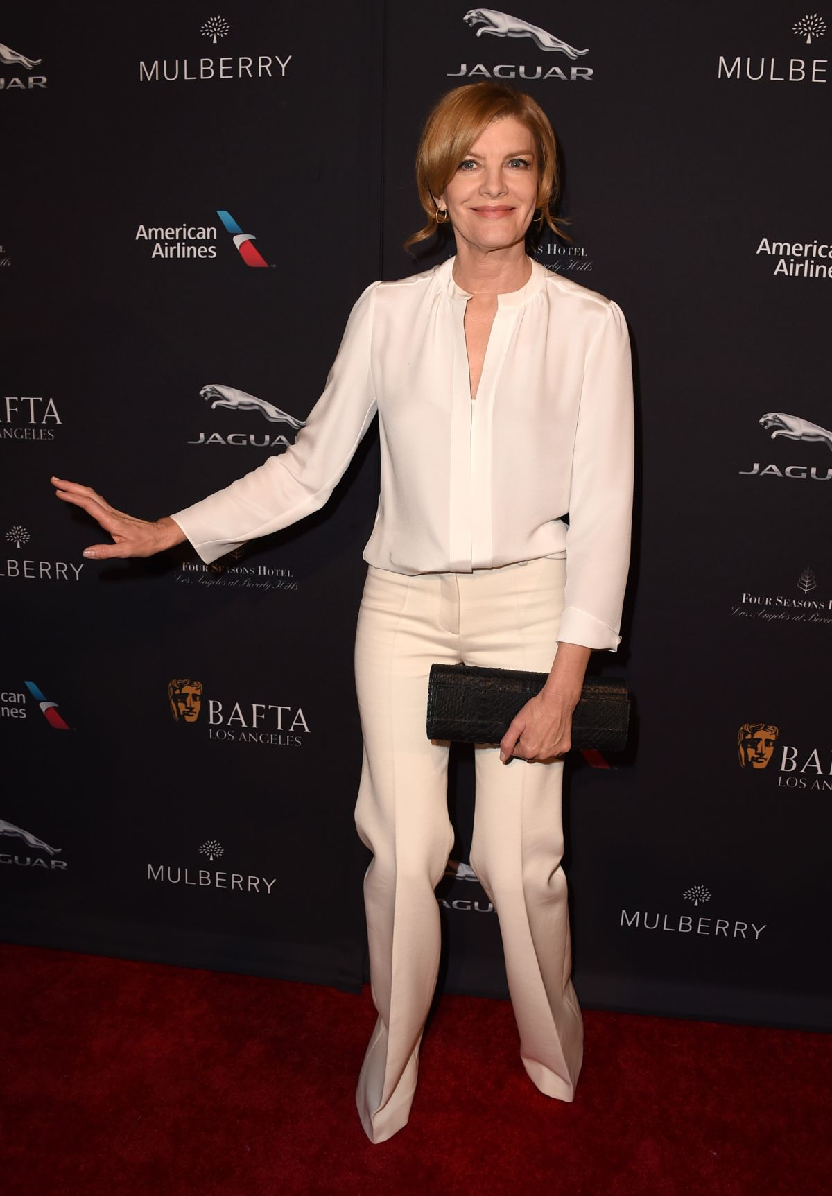 RENE RUSSO at Bafta Tea Party in Los Angeles