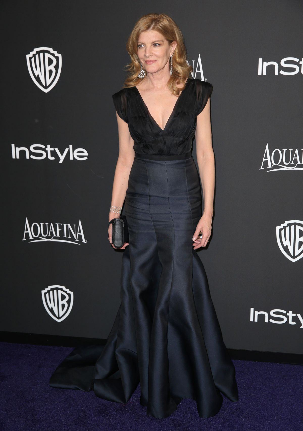 RENE RUSSO at Instyle and Warner Bros Golden Globes Party in Beverly Hills
