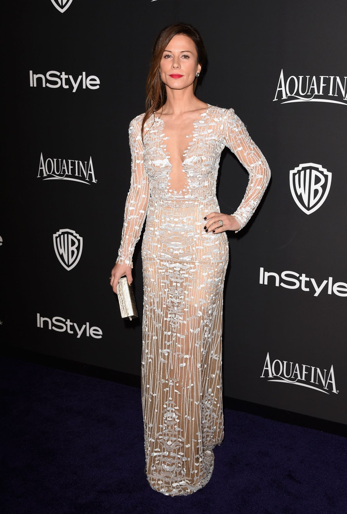 RHONA MITRA at Instyle and Warner Bros Golden Globes Party in Beverly Hills