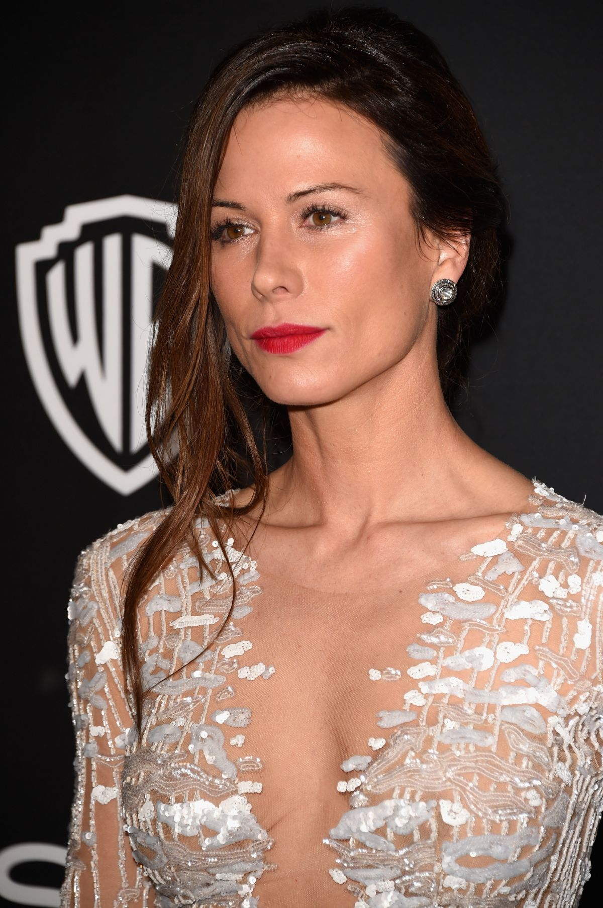 RHONA MITRA at Instyle and Warner Bros Golden Globes Party