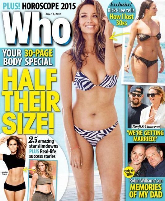 RICKI-LEE COULTER in Who Magazine, January 2015 Issue