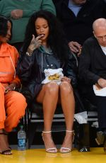 RIHANNA at LA Lakers vs Cleveland Cavaliers Game at Staples Center