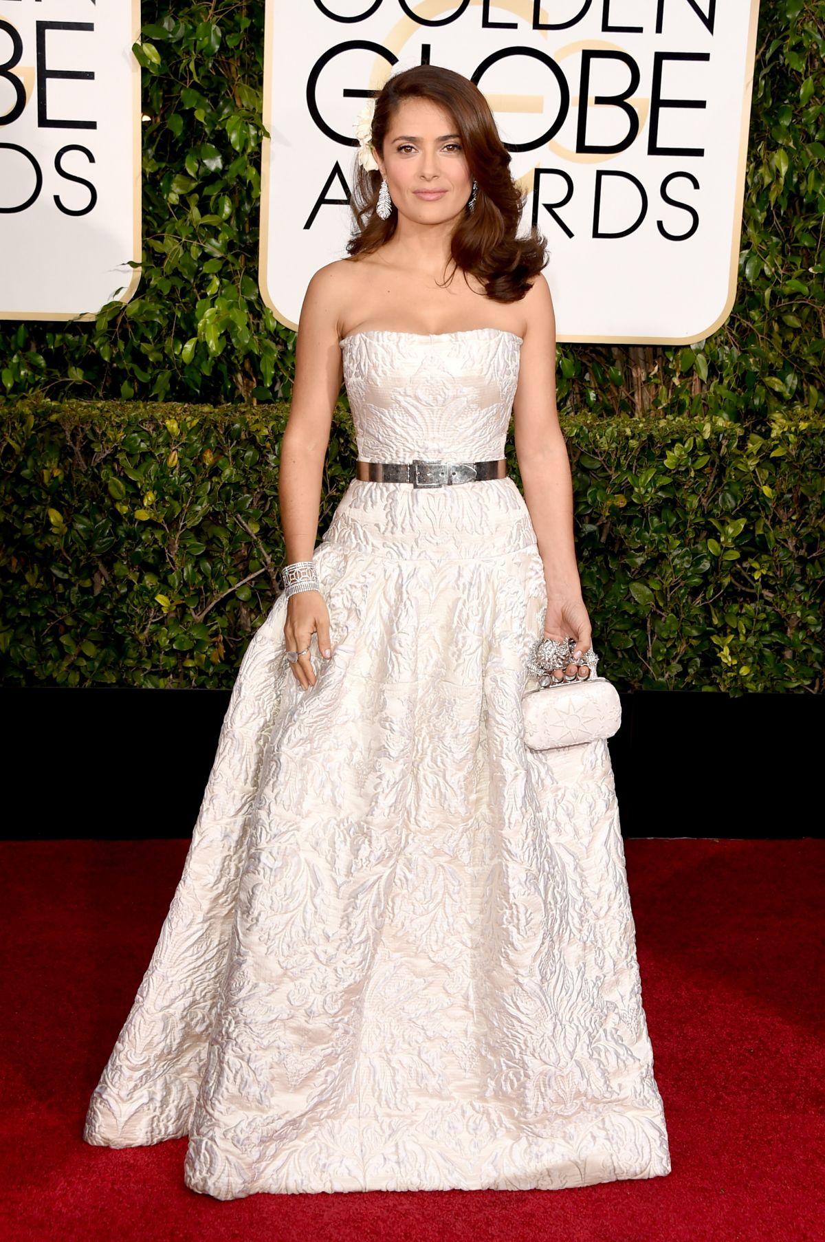 SALMA HAYEK at 2015 Golden Globe Awards in Beverly Hills