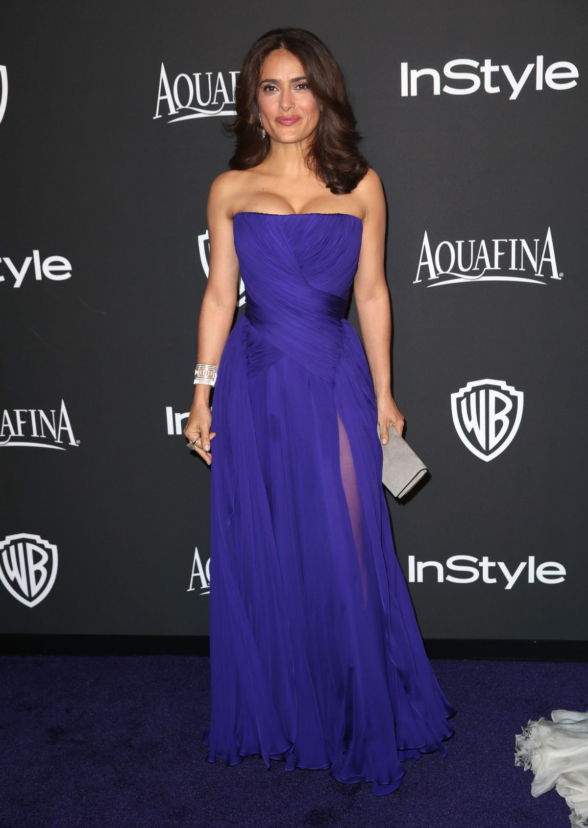 SALMA HAYEK at Instyle and Warner Bros Golden Globes Party in Beverly Hills
