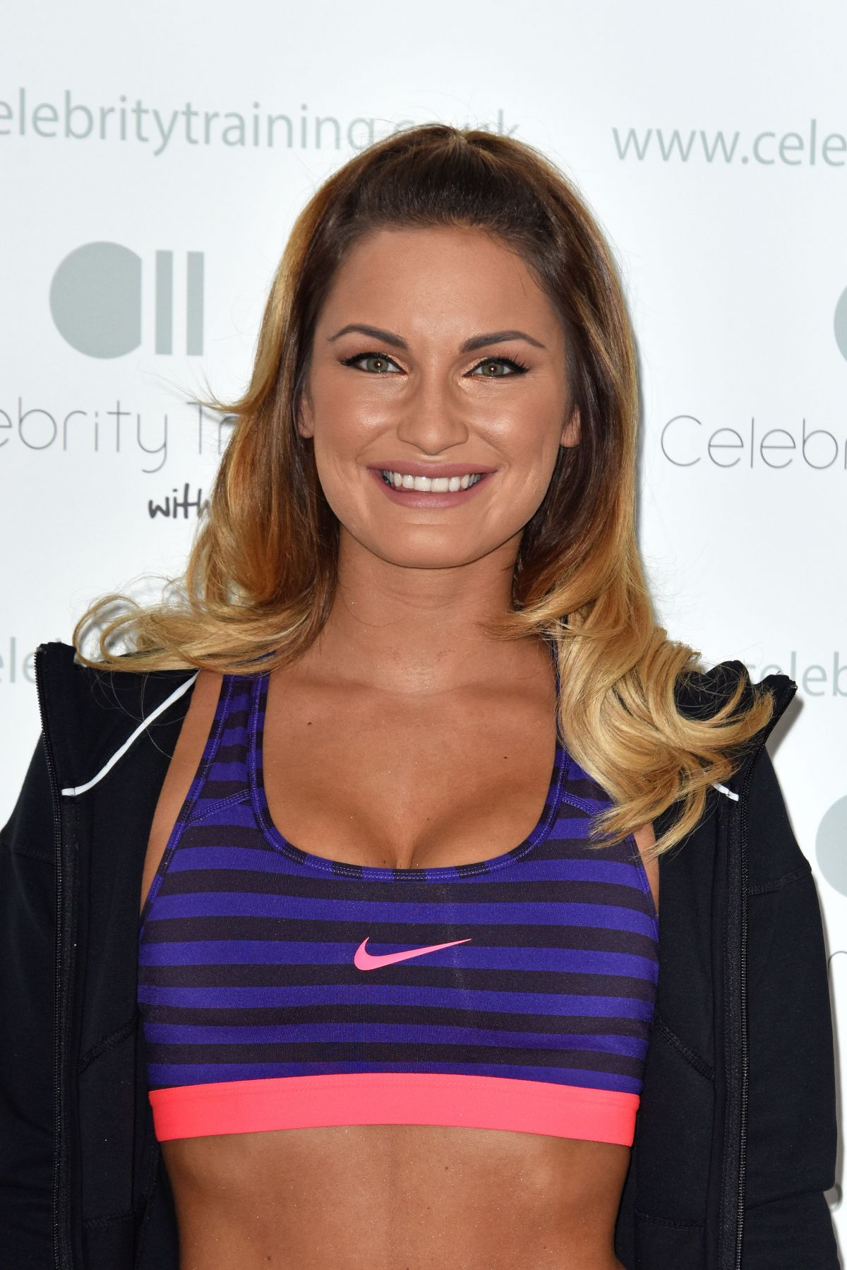 Sam Faiers At Celebrity Training With Photocall In London
