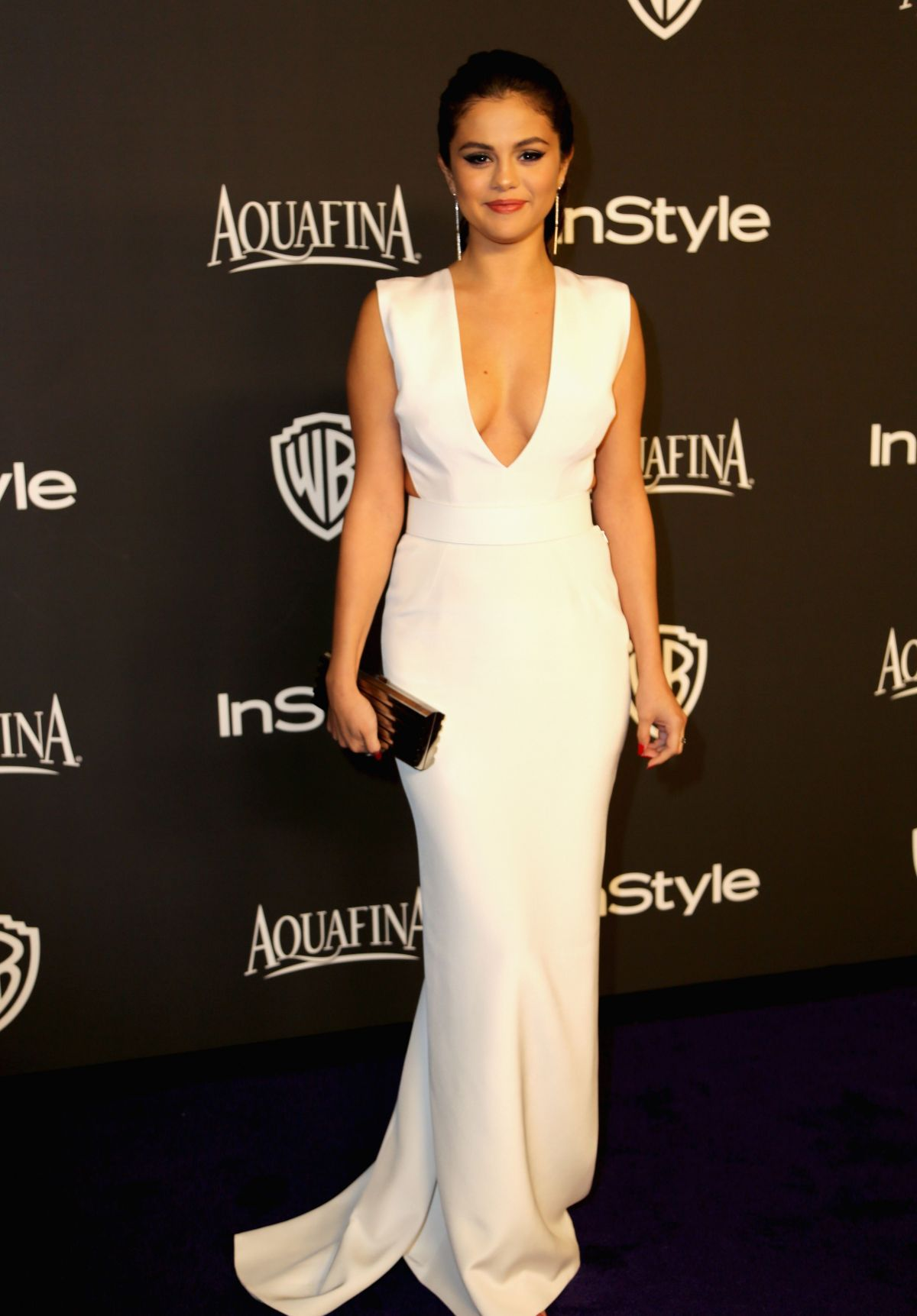 SELENA GOMEZ at Instyle and Warner Bros Golden Globes Party in Beverly Hills