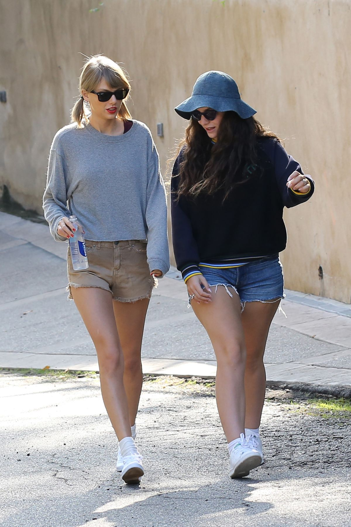 TAYLOR SWIFT and LORDE in Shorts Out Hiking in Los Angeles