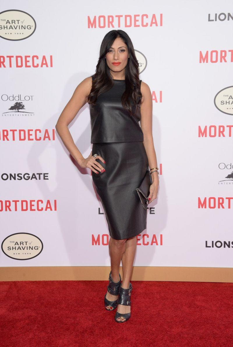 TEHMINA SUNNY at Mortdecai premiere ion Hollywood
