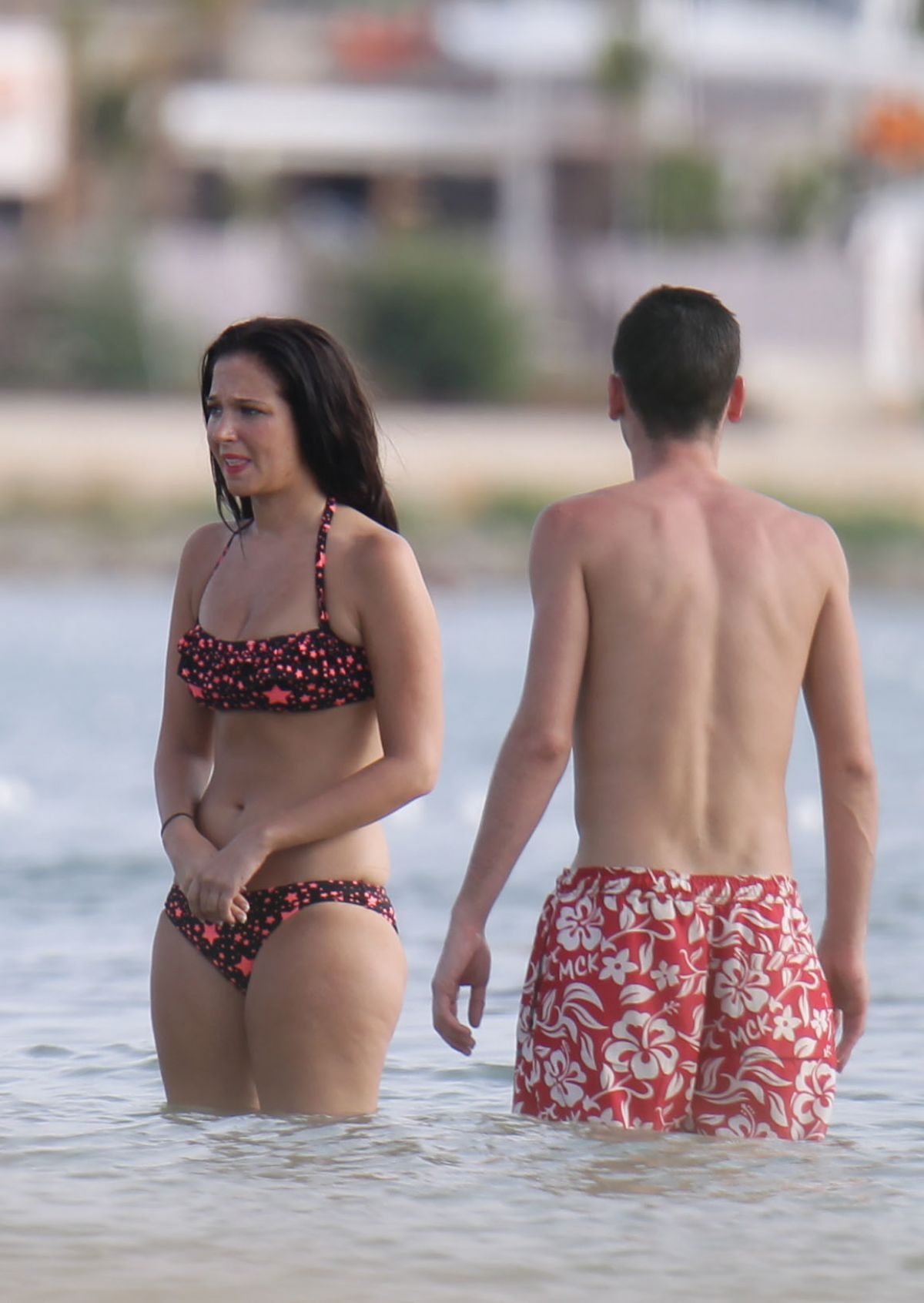 TULISA CONTOSTAVLOS in Bikini at a Beach in Ibizia 2701