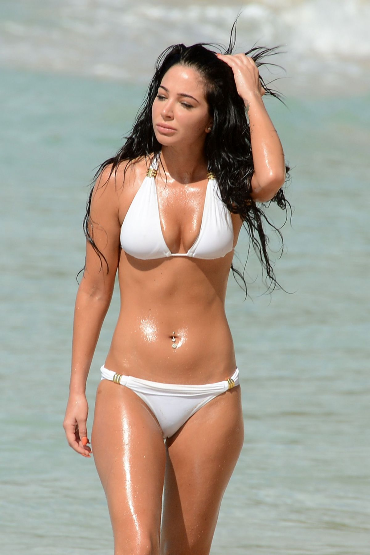TULISA CONTOSTAVLOS in Bikini on the Beach in Barbados 3012
