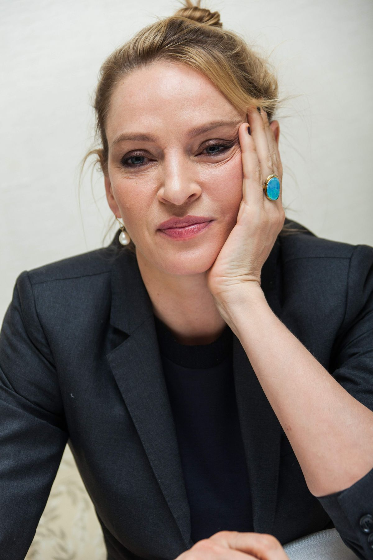 UMA THURMAN at The Slap Press Conference Portraits by Herve Tropea ...